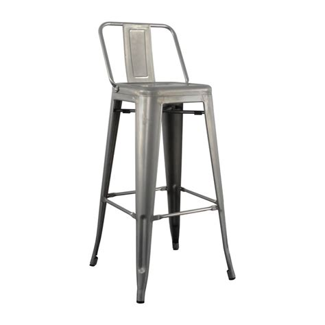 High Stool Chair With Back Replica Tolix Low Back High Stool Chair 75cm
