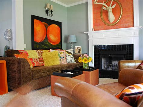 burnt orange living room accessories decorating with orange how to incorporate a risky color tastefully