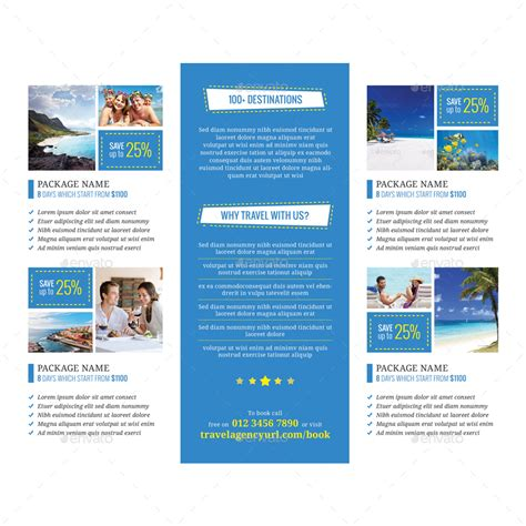 travel agency brochure template travel agency tri fold brochure vol 2 by samiul75