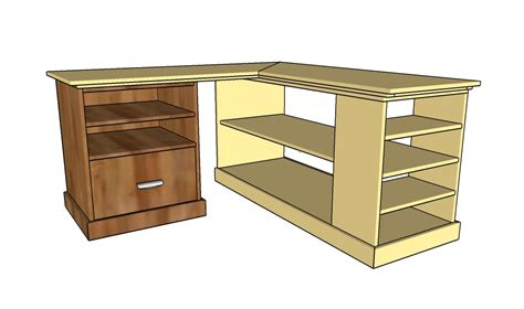 Corner Desk Plans Howtospecialist How To Build Step Desk Plans