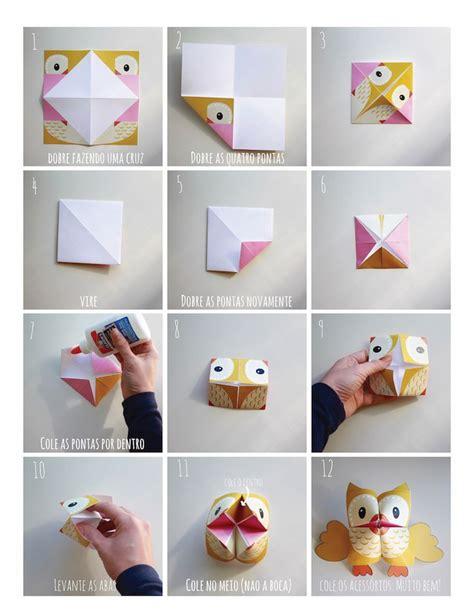 Origami Owl Pdf - owl cootie catcher fortune teller origamis