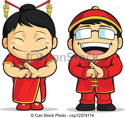 imagenes de caricaturas japonesas y chinas ilustraciones vectoriales de caricatura de chino ni 241 o