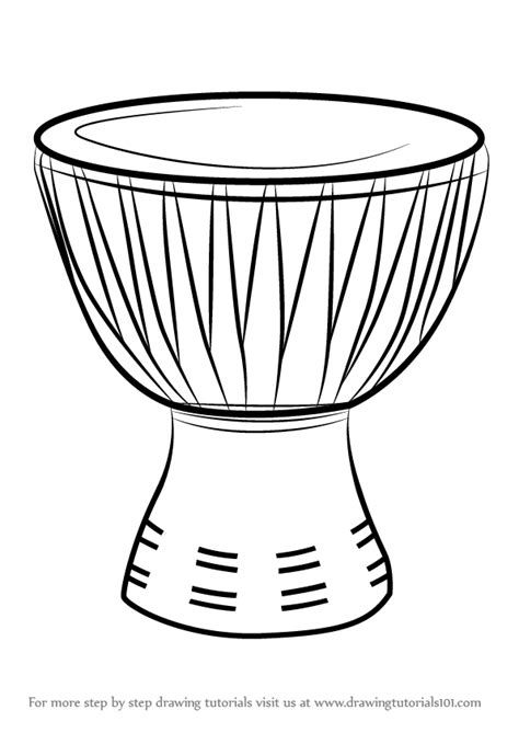 african music coloring pages learn how to draw an african drum musical instruments