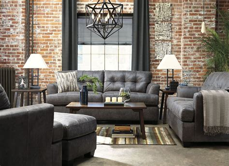 charcoal room inmon charcoal living room set from coleman furniture