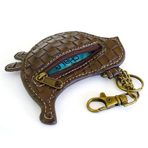 chala bird key chain coin purse leather bag fob charm