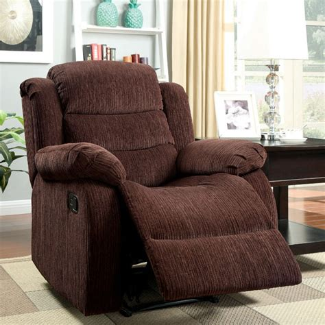 Brown Fabric Recliner Chairs Living Room Rocker Recliners Brown Fabric Recliner