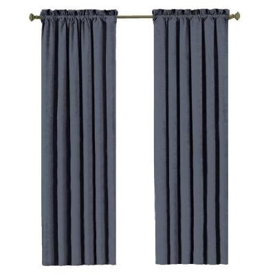 faux suede blackout curtains eclipse faux suede blackout stone blue curtain panel 84