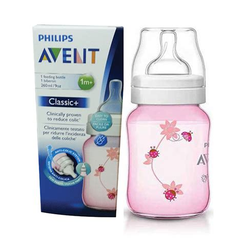 Scf573 11 Avent Bottle Classic 260ml Single Pink Ladybug Philips Avent Special Edition Classic Plus Bottle 9oz