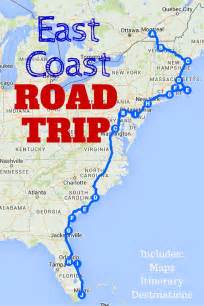 east road map 25 best ideas about east coast road trip on