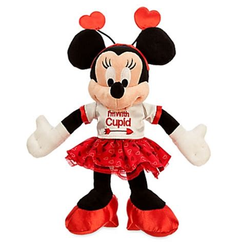 minnie mouse valentines disney s day plush minnie mouse i m with cupid