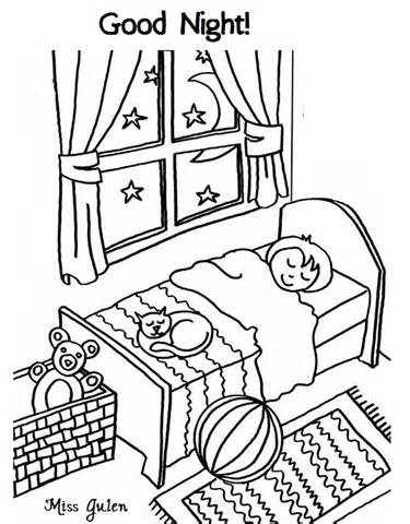 night color pages coloring pages kids