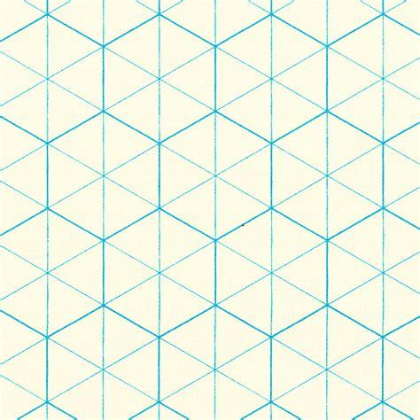 hexagon graph paper artisinal graph paper blue hexagon