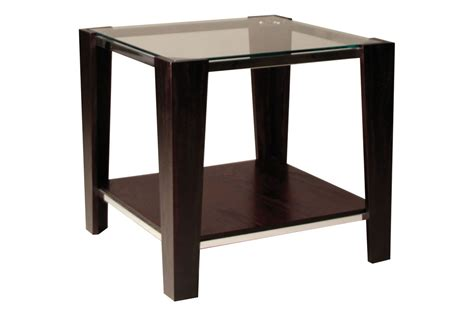glass top end tables contemporary glass top end table at gardner white