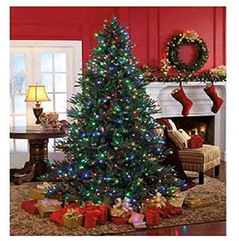 pre lit w 600 color changing led lights christmas tree 7