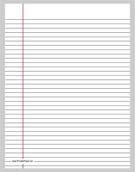lined notebook paper template word lined paper template free premium templates