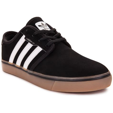 kid adidas shoes adidas seeley big kid shoes black white gum