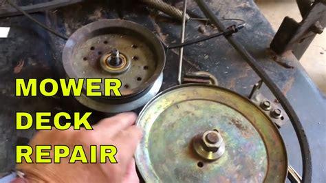 scotts  john deere mower deck repair youtube
