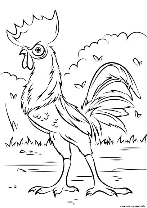 coloring page moana heihei rooster from moana disney coloring pages printable