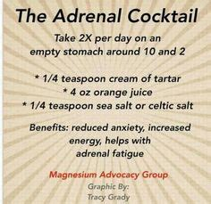 Adrenal Cocktail Detox by Always Tired Adrenal Fatigue Diet And Up On