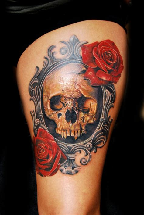 tattoos of skulls with roses best 25 vintage frame ideas on framed