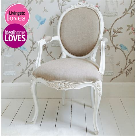 french bedroom chair provencal linen lady white armchair french bedroom company