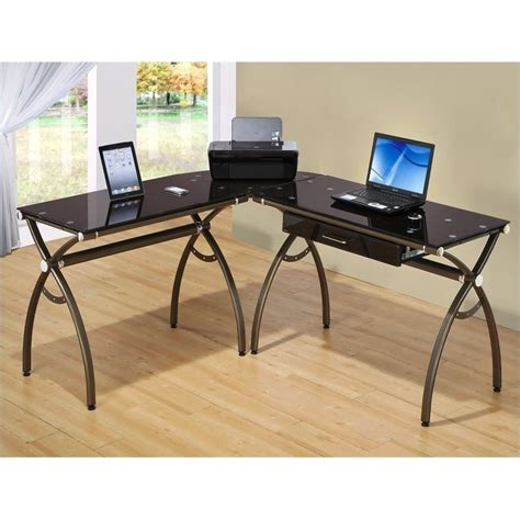 Techni Mobili L Shaped Chocolate Computer Desk Ebay L Shape Computer Desk