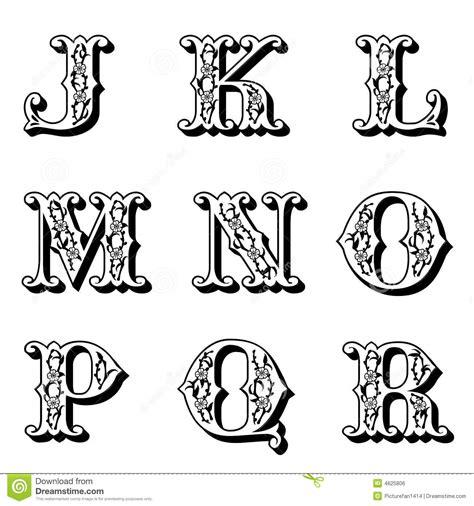 lettere alfabetiche stilizzate lettere capitali 2 fiore immagine stock libera da