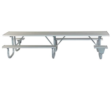 picnic table frame kit ada frame kit for 12 ft picnic table welded 2 3 8 quot galvanized steel portable by park tables