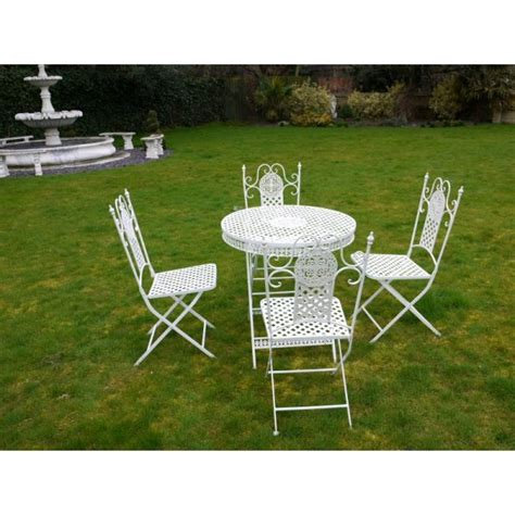Buy Patio Set Buy White 4 Seater Dining Set White Patio Set Swanky