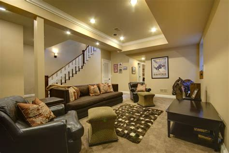 Basement Tray Ceiling Basement Family Room With Nine Foot Tray Ceiling You Can