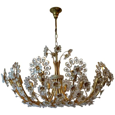 Regency Chandelier Regency Style Chandelier By Palwa Gold Plated Brass And Crystals At 1stdibs