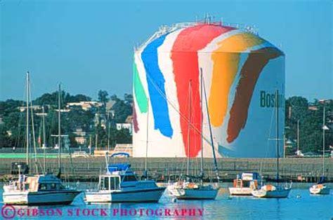 marine fuel tanks massachusetts painted gas tank near marina boston massachusetts stock