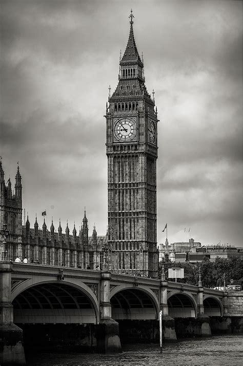 imagenes en blanco y negro verticales cuadro torre del reloj big ben londres n 186 09
