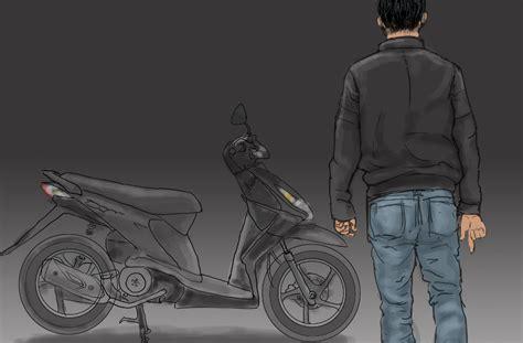 Lu Tembak Sepeda rambut dipangkas motor diras