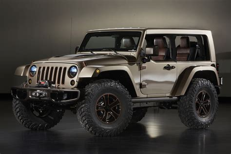 new jeep wrangler concept jeep and mopar reveal six new concepts for 47th annual