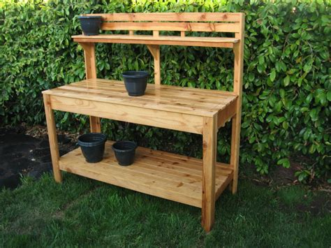 outdoor potters bench diy garden potting work bench ideas interior design ideas