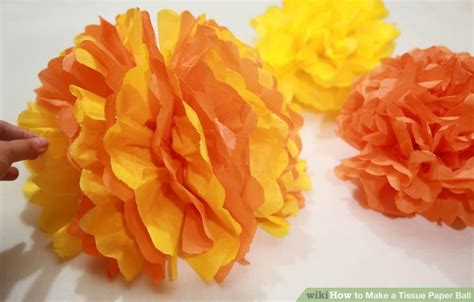 How To Make Tissue Paper Balls To Hang - how to make a tissue paper 7 steps with pictures
