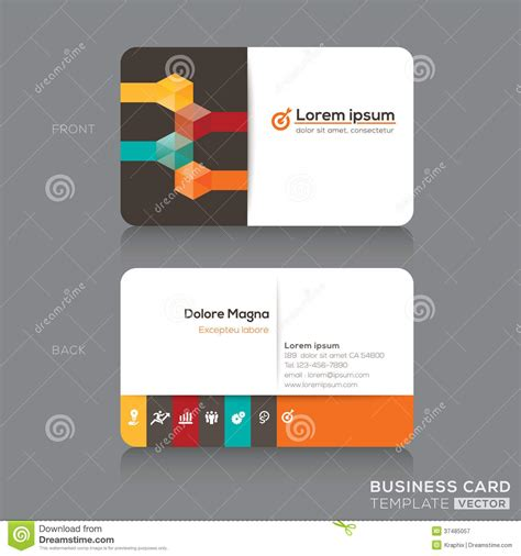 ad business card template 35582 business cards design template stock vector illustration