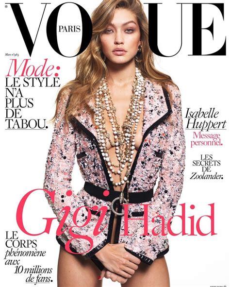 Ro Gigi by Gigi Hadid A Pozat Nud Pentru Coperta Revistei Vogue