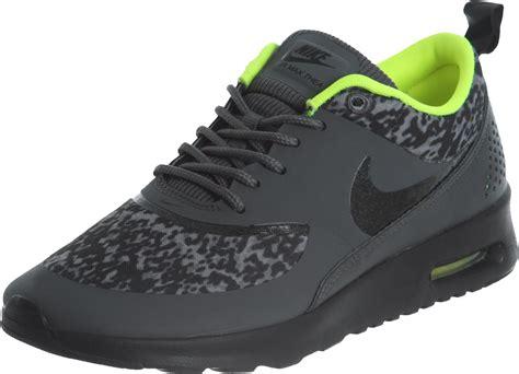 nike air max thea print  shoes grey yellow neon