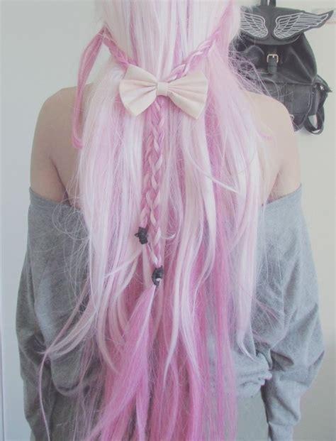 pale pink hair extensions hair vintage grunge hair style pastel