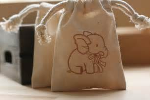 Favors Bags by Muslin Favor Bags Baby Elephant X10 Muslin Baby By