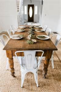 Metal Dining Tables And Chairs Best 25 Farmhouse Table Chairs Ideas On Rustic Dining Room Tables Dinning Table