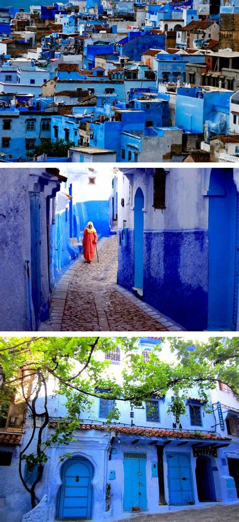 blue city in morocco chefchaouen morocco an entire city painted blue by