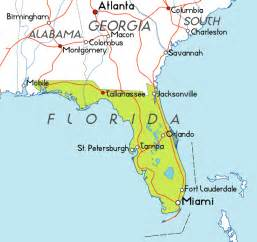 map of florida in the usa