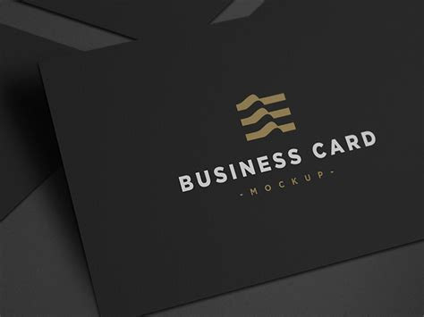 Black Business Card Template Psd by Black Business Card Mockup Business Card Mockup Psd