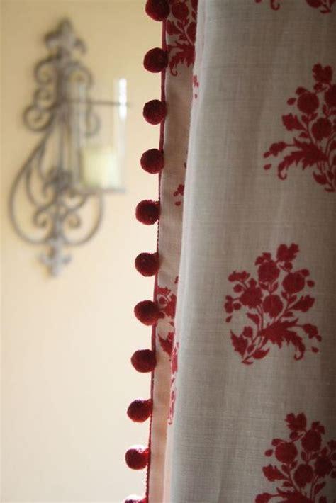 curtains with pom pom trim pom pom trim on leading edge of panel curtains bedding