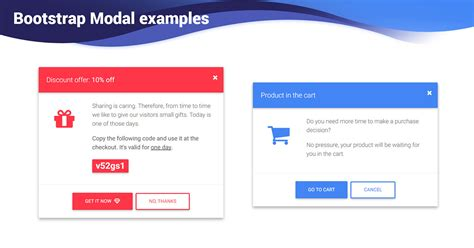 bootstrap modal examples templates material design