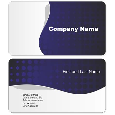 business card template vector free download throughout business