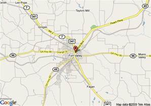 map of days inn and suites fort valley fort valley